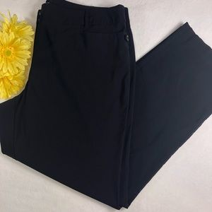 Lane Bryant Plus Size Black Nylon Boot Cut Pants